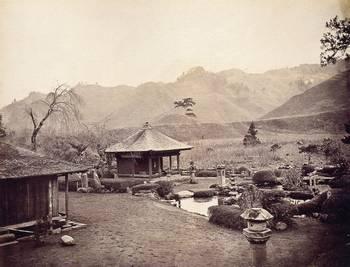 幕末・明治の古写真 (大日堂と庭園1(1876)) 日本カメラ博物館蔵