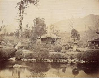 幕末・明治の古写真 (大日堂と庭園2(1876)) 日本カメラ博物館蔵