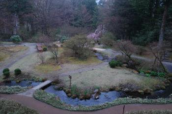 御用邸内部からの庭園