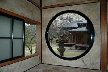 丸窓からの眺め